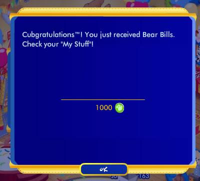 1000 Free Bear Bills