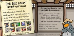 Igloo Contest Winners