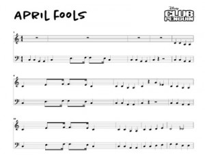 April Fools Music Sheet