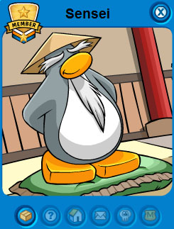 Club Penguin Sensei Puffle