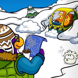 Club Penguin Snow Maze