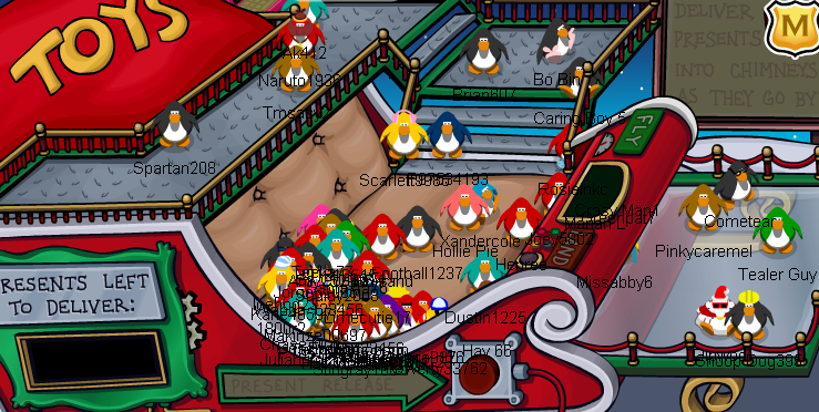 Club Penguin Christmas Sled Cheats