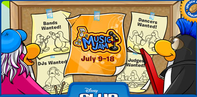 Music Jam Start Screen
