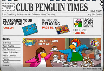 Club Penguin Times Issue 250