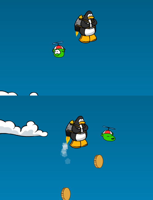 how to walk your puffle in club penguin online