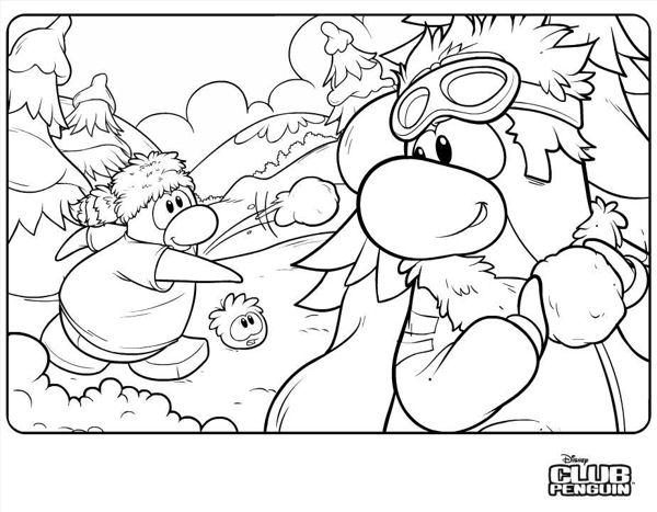 club penguin coloring pages printable page s and etc