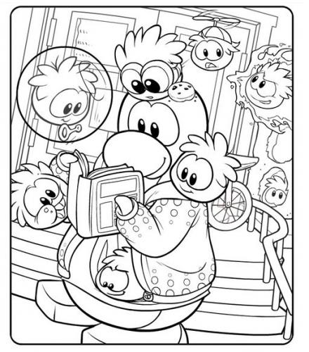 New Club Penguin Coloring Page - Club Penguin Cheats 2013