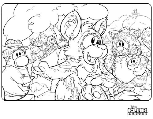 Club Penguin Earth Day Party 2011 Coloring Page – Free Item ...