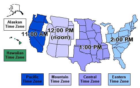 Map Of United States With Time Zones Printable لم يسبق له مثيل