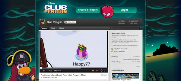 Club Penguin Updates YouTube Channel Background & Icon