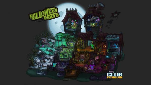 club penguin halloween party 2012 wallpaper - Halloween Party Wallpaper
