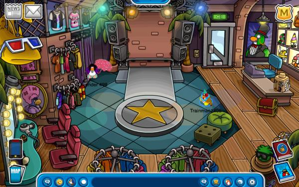 Club Penguin Gift Shop, Night Club, and Pizza Parlour Redesigned ...