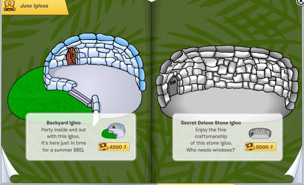 Club Penguin June 2015 Furniture & Igloo Catalogue Cheats